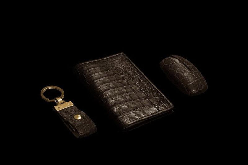 brown caiman crocodile purses
